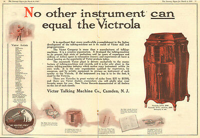 1920 rare old AD for VICTROLA XVII electric, Victor Talking Machine Co. 102318