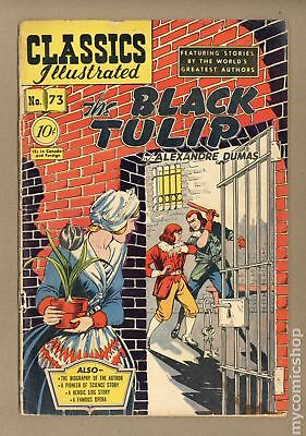 Classics Illustrated 073 The Black Tulip #1 1950 PR 0.5