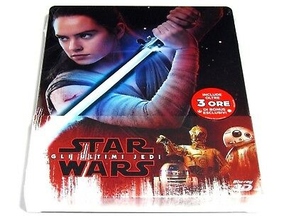 Star Wars The Last Jedi 3D+2D Blu-Ray Steelbook Limited Edition Import Brand New