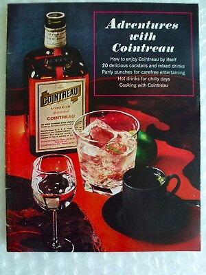 aDVENTURES W/ COINTREAU 20 COCKTAILS MIXED DRINKS PARTY PUNCHES VINTAGE neocurio