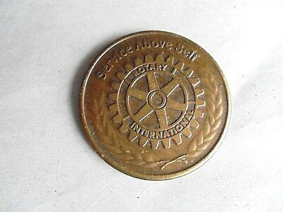Vintage Rotary International Service Above Self Four Way Test Challenge Coin