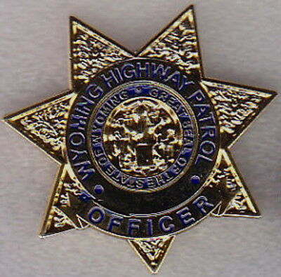 Wyoming WY WYHP Highway Patrol OFFICER mini badge LAPEL PIN (state police)