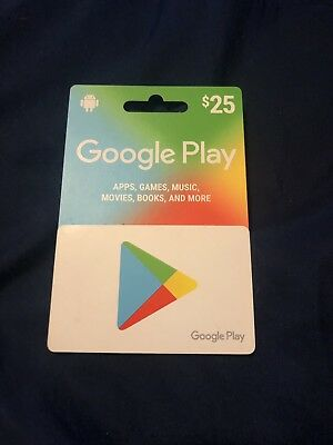 GOOGLE PLAY GIFT card $25 Free Shipping