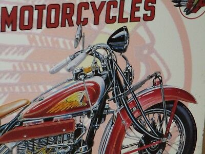 1937 INDIAN FOUR - OLD Motorcycle SIGN Dated 1996 -SHOWS CLOSE-UP of the DETAILS