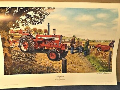 "Sonnenberg Print ""perfect Day"" - Farmall 1256 Turbo Tractor - Print Only"