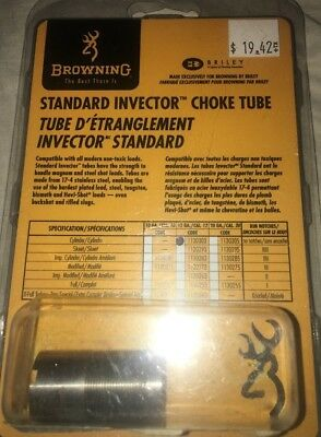 Browning 12 Gauge Stainless Steel Cylinder Choke Tube Standard Invector 1130303
