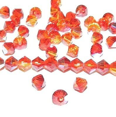 T5 5301 FIX ***20 toupies cristal Swarovski 5 mm FIRE OPAL AB