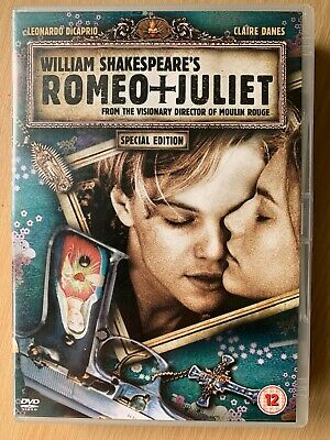 Romeo y Juliet DVD 1996 William Shakespeare Clásico con Leonardo Dicaprio