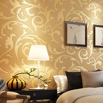 100CM Self-adhesive Non-woven Wallpaper 3d Garden Bedroom Wall Paper Wallpaper