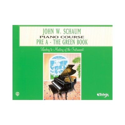 Alfred John W. Schaum Piano Course Pre-A The Green Book