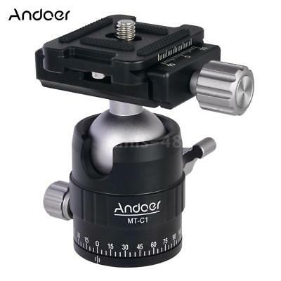 Andoer 360° Panoramic Tripod Monopod Ball Head Mount Adapter Quick Release Plate