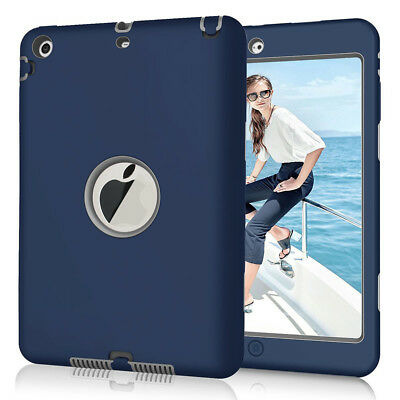 Heavy Duty Tough Rubber Kids Shockproof Case Cover for Apple iPad mini 1 2 3