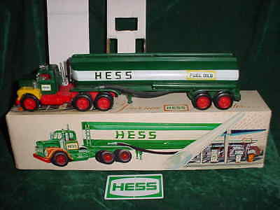 1974 Rare Marx Christmas Collectible  Hess Trucks 1974 Toy Tanker Truck Toy