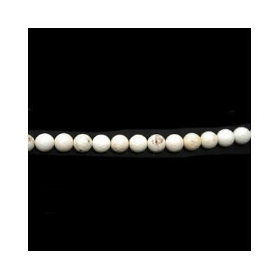 Strand 95+ White Magnesite 4mm Faceted Round Beads CB44587-1