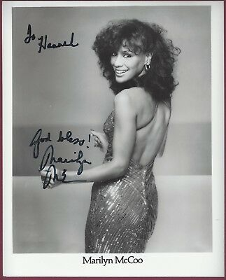 "Marilyn McCoo, Pop Singer, Signed & Inscribed 8"" x 10"" Photo, COA, UACC RD 036"