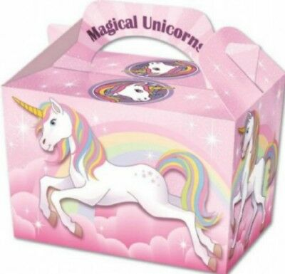 Unicorn Girls & Boys Party Loot Boxes Children Food Lunch Birthday Party Bag UK