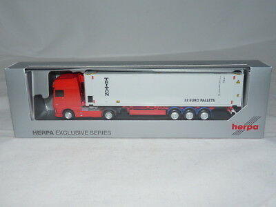 Herpa 934923 DAF XF SSC  Facelift Highcube Container Sattelzug Triton Auflieger