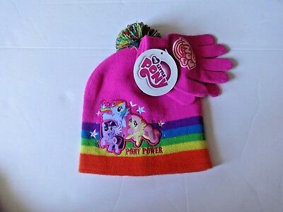 2db7811b8179b HASBRO MY LITTLE Pony Girls Winter One Size Beanie Knit Hat and ...