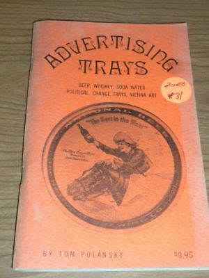 Vintage ADVERTISING TRAYS Collectors Book PB  1971