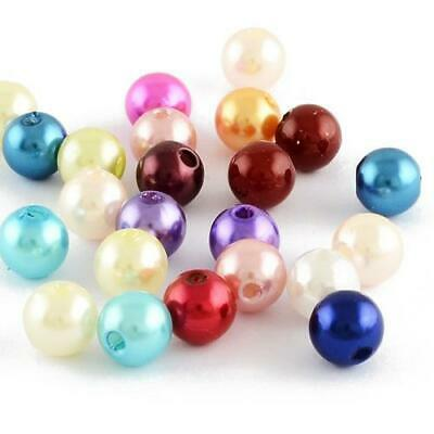 Acrylic Round Beads 12mm Mixed 20 Pcs Art Hobby DIY Jewellery Making Crafts