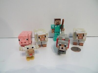 MINECRAFT BABY ANIMAL 6 Pack Series 4 Llama Cow Sheep Pig Wolf