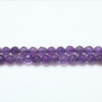 Amethyst Faceted Round Beads 7-8mm Purple 50+ Pcs Gemstones DIY Jewellery Making