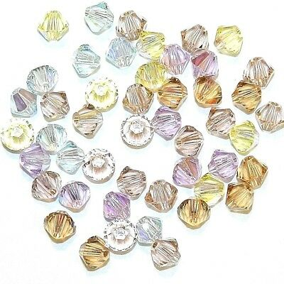 SCB3518 Innocence Mix Pink Yellow Blue 4mm Bicone Swarovski Crystal Beads 48pc