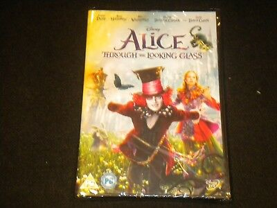 Alice - Through The Looking Glass - Disney - DVD - PAL REGION 2 - NEW & SEALED