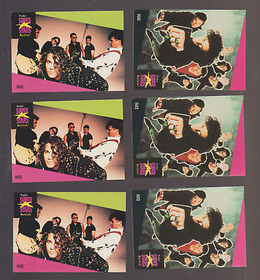 Lot of 6 INXS Michael Hutchence trading cards Pub. early 1990s