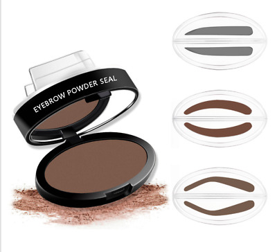 Eyebrow Powder Seal Brow Stamp Shadow Mineral Palette Natural Makeup Brown Gray