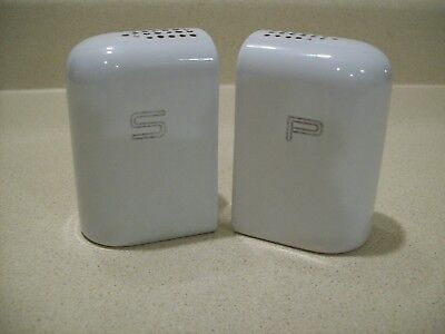 Vintage Art Deco White Porcelain Salt Pepper Shakers 1930-40's Range Set