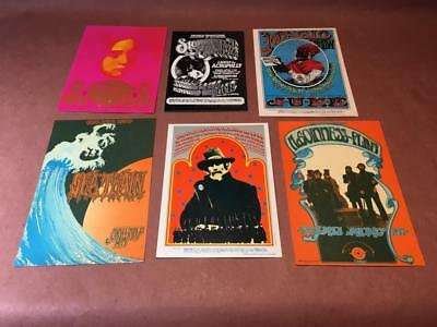 Vintage FAMILY DOG Handbill Collection, Lot of 6 -- BIG BROTHER, Canned Heat...