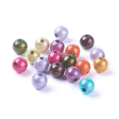 Paquet 50+ Mixte Acrylique 8mm Perles Miracles Rond Perles Y12770