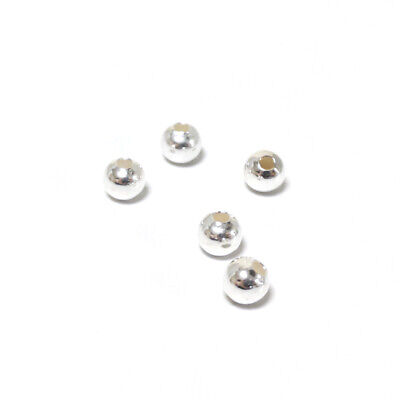 925 Sterling Silver Round Beads 4mm Silver 5 Pcs Art Hobby DIY Jewellery Making