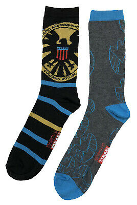 Marvel Avengers Agents of Shield Symbol 2 Pack Crew Socks