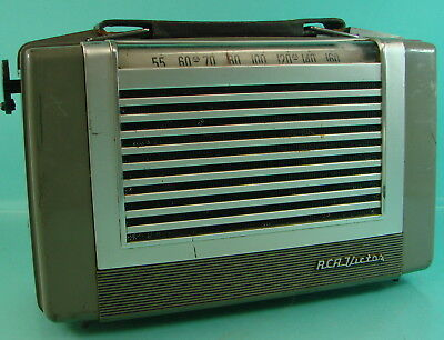 Vintage Retro Space Age RCA Victor Model 2-BX-63 Portable Tube Radio Switch