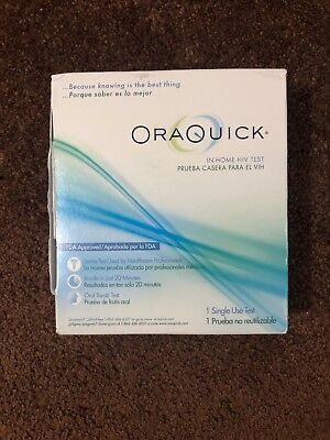 OraQuick In-Home HIV Test 1 Single Use Test - BRAND NEW SEALED Exp 11/20