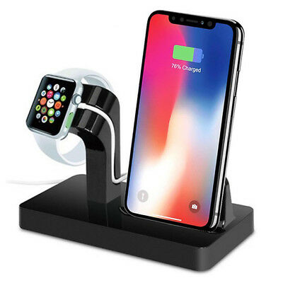 Charging Dock Stand Station Charger for Apple Watch iWatch 4/3/2 iPhone XS Max X