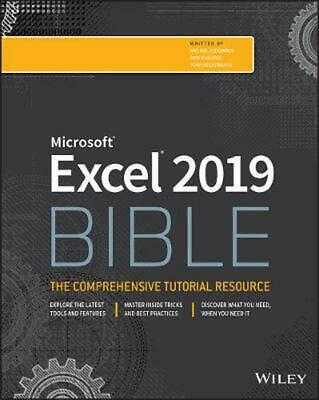 Excel 2019 Bible by Michael Alexander Paperback Book Free Shipping!