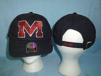 17e4ffe9537 Mississippi OLE MISS REBELS Sparkle CAP HAT 47 Brand Womens OSFA size NWT   25