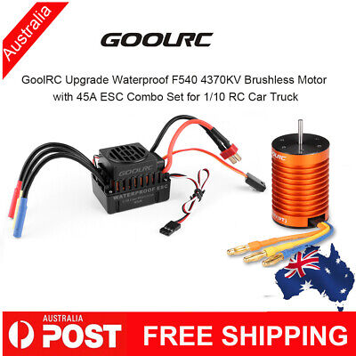 1/10 RC Car Waterproof F540 4370KV Brushless Motor with 45A ESC Combo Set