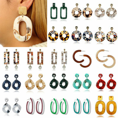 Boho Geometric Womens Round Dangle Drop Hook Ear Stud Earrings Party Jewelry New