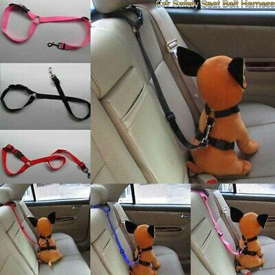 Adjustable Pet Dog Car Safety Seat Belt Lead Harness Nylon Travel Restraint Clip