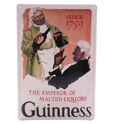 Guinness The Emperor of Malted Liquors - Retro Tin Sign - 20 x 30 cm