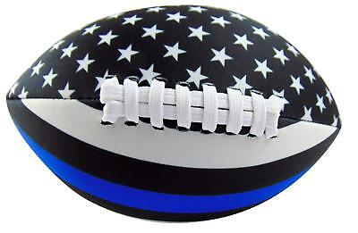 Get A Gadget Police Football Soft Neoprene Thin Blue Line American Flag Ball 8 I