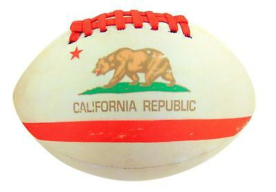 Get A Gadget California Flag Football Soft Neoprene Ball for Kids 8 Inches Long