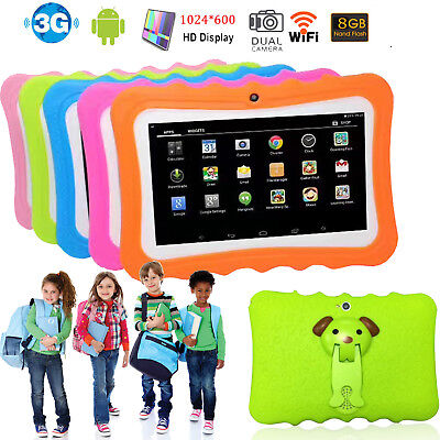 7 inch Kids Tablet HD 8GB ROM WiFi Camera Games Bluetooth Android Boys Girls PC