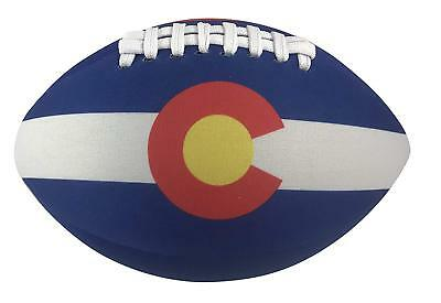 Get A Gadget Colorado State Flag Football Soft Neoprene Ball 8 Inches Long