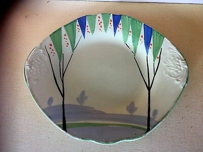 Vintage Antique Lawley's Hand Painted Sandwich Plate Very Rare Collectors