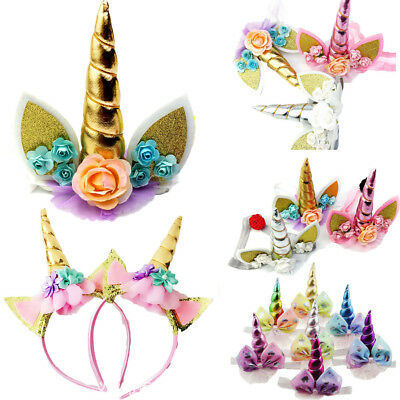 Magical Unicorn Horn Head Band Party Kids Hair Headband Fancy Dress Cosplay